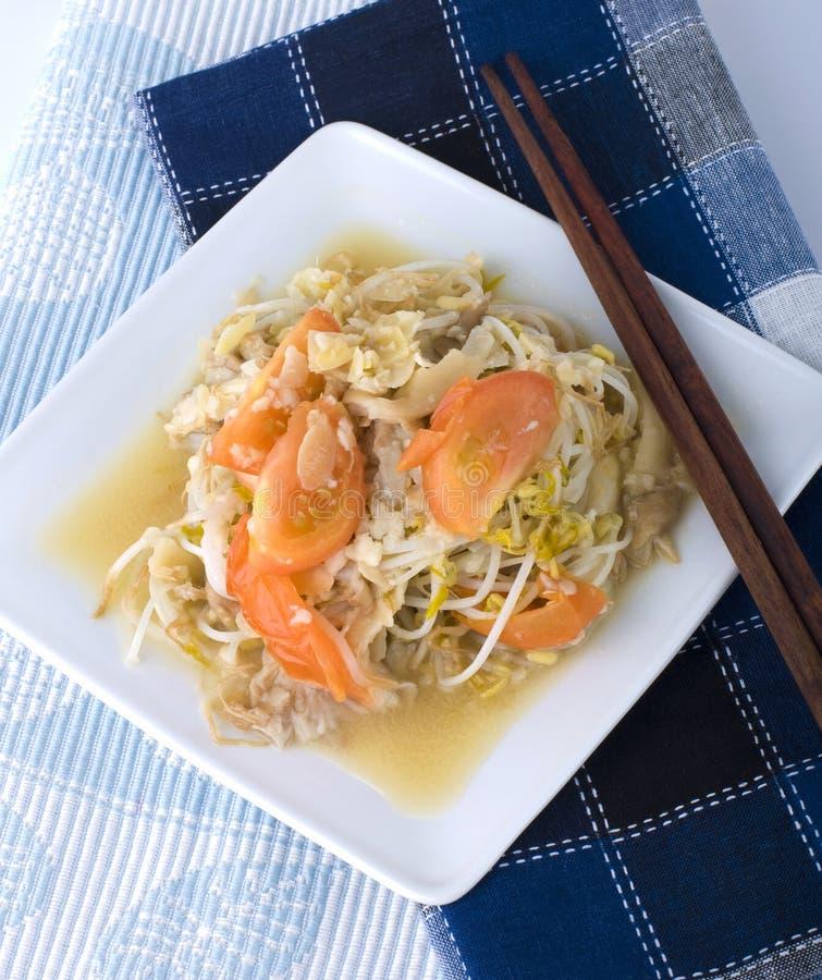 Sprouts de feijão - alimento do vegetariano imagem de stock