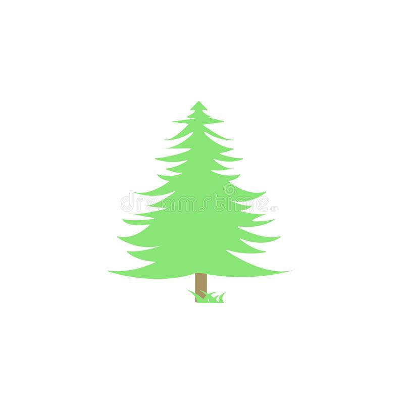 spruce colored icon. Element of colored autumn icon for mobile concept and web apps. Colored spruce icon can be used for web and m vector illustration
