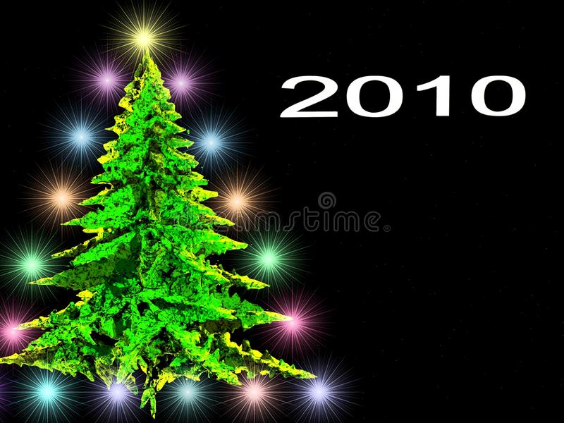Download Spruce in light bulbs stock illustration. Image of starry - 12160446