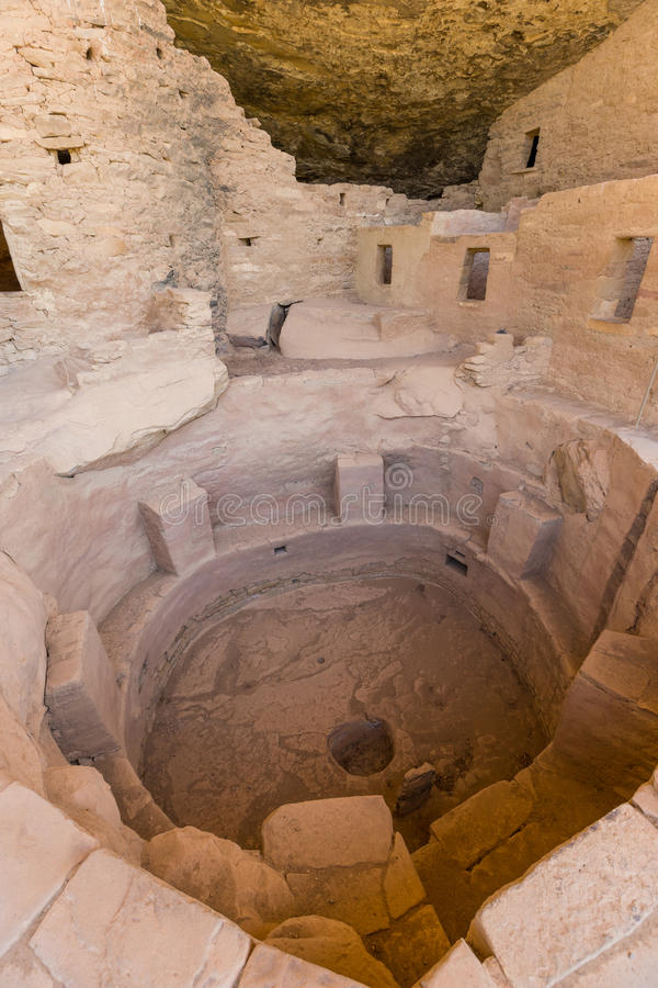Spruce Tree House Ancient Ruins. Spruce tree house one of the Anasazi ruins in mesa verde national park colorado stock images