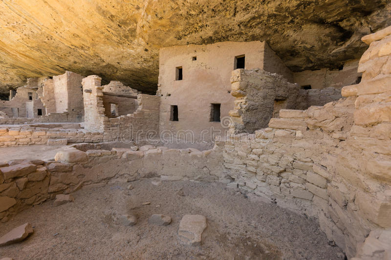 The Spruce Tree House Cliff Dwellings. Spruce tree house one of the Anasazi ruins in mesa verde national park colorado stock image
