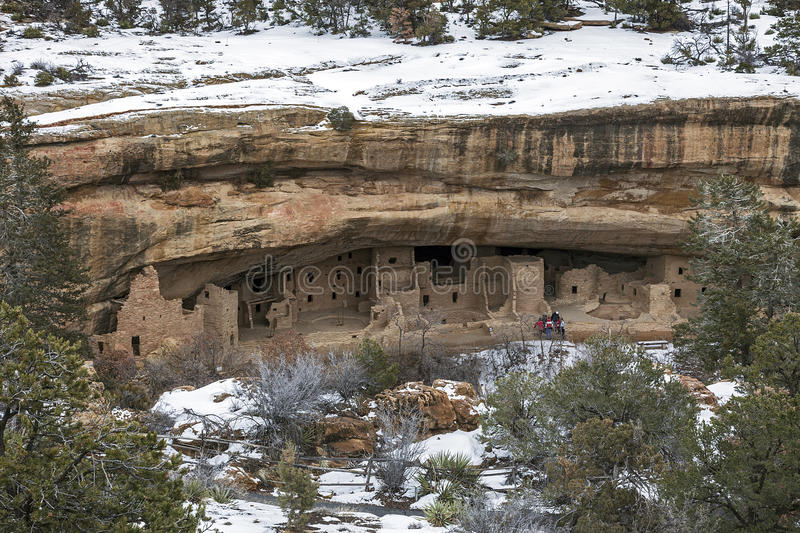 Spruce Tree House in Mesa Verde National Park, CO stock images
