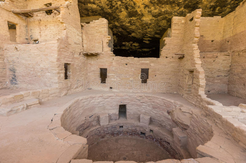 Spruce Tree House in Mesa Verde. Spruce tree house one of the Anasazi ruins in mesa verde national park colorado stock images