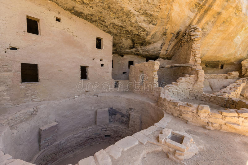 Spruce Tree House Ruins Mesa Verde. Spruce tree house one of the Anasazi ruins in mesa verde national park colorado royalty free stock photography