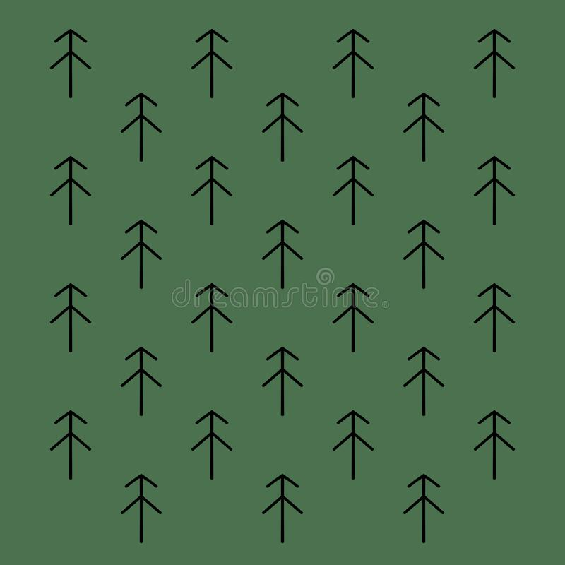 Spruces on green royalty free stock image
