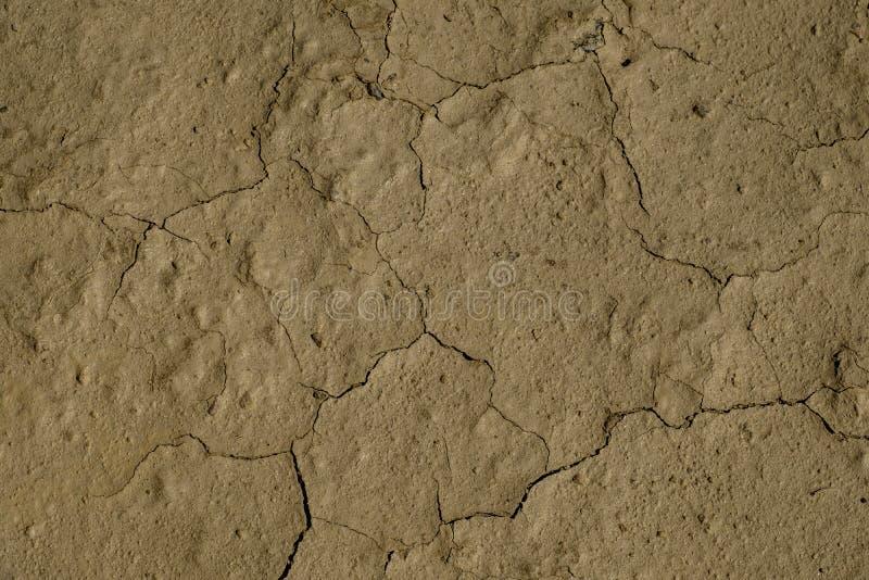 Sprucken öken jordNamibia Afrika arkivfoto