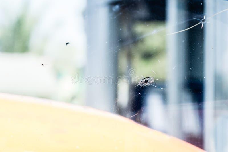 Sprucken bilvindruta royaltyfria bilder