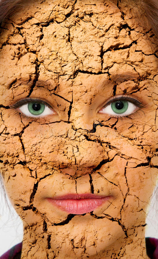 Sprucken hud royaltyfri foto