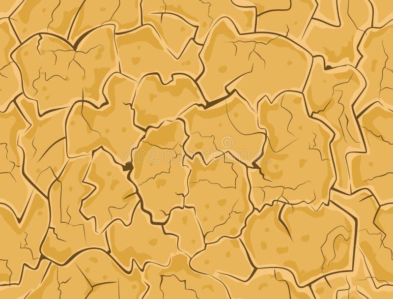 sprucken torr jordning royaltyfri illustrationer