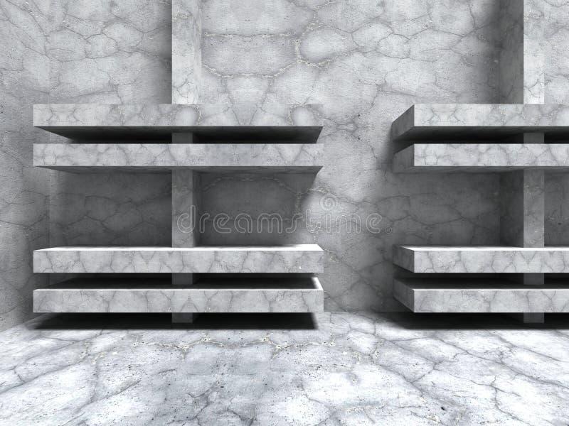 Download Sprucken Väggbakgrund För Abstrakt Konkret Arkitektur Stock Illustrationer - Illustration av tomt, benäget: 78731555