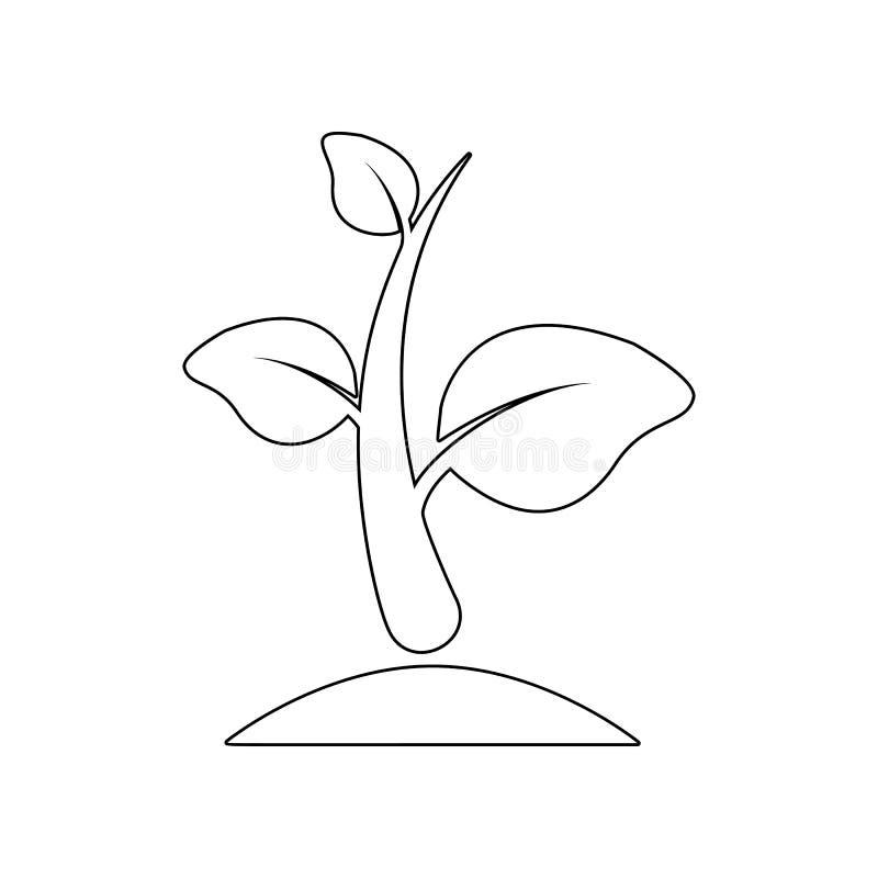 Spruitpictogram Element van Tuin voor mobiel concept en webtoepassingenpictogram Overzicht, dun lijnpictogram voor websiteontwerp stock illustratie