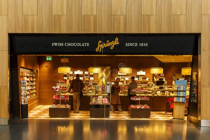 Sprungli巧克力商店 免版税库存图片
