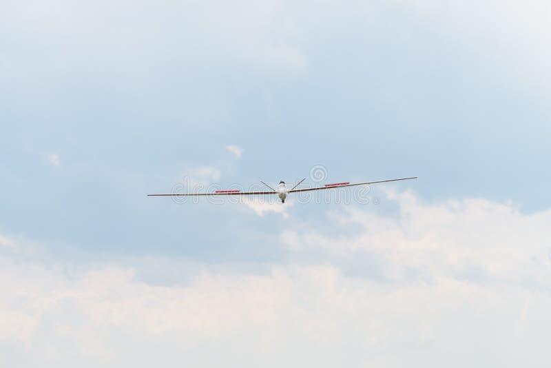 Spruta ut den drev RC-modellen av glidflygplanet, saiplane arkivbilder