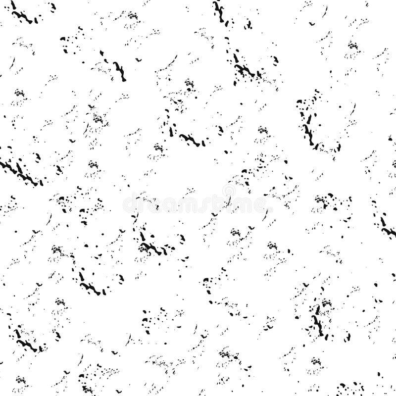 Spruzza di pittura nera Fondo di Splated illustrazione di stock