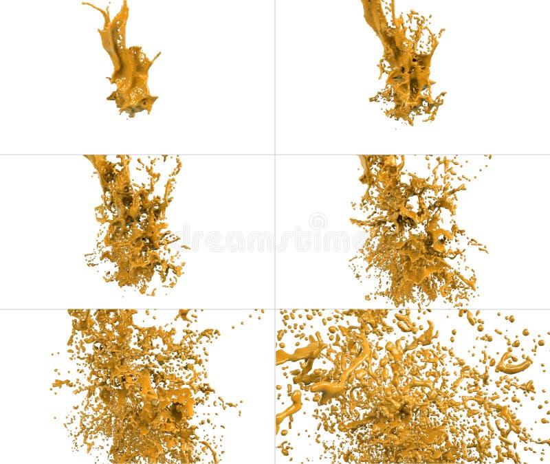 Spruzza la raccolta isolata su fondo bianco royalty illustrazione gratis