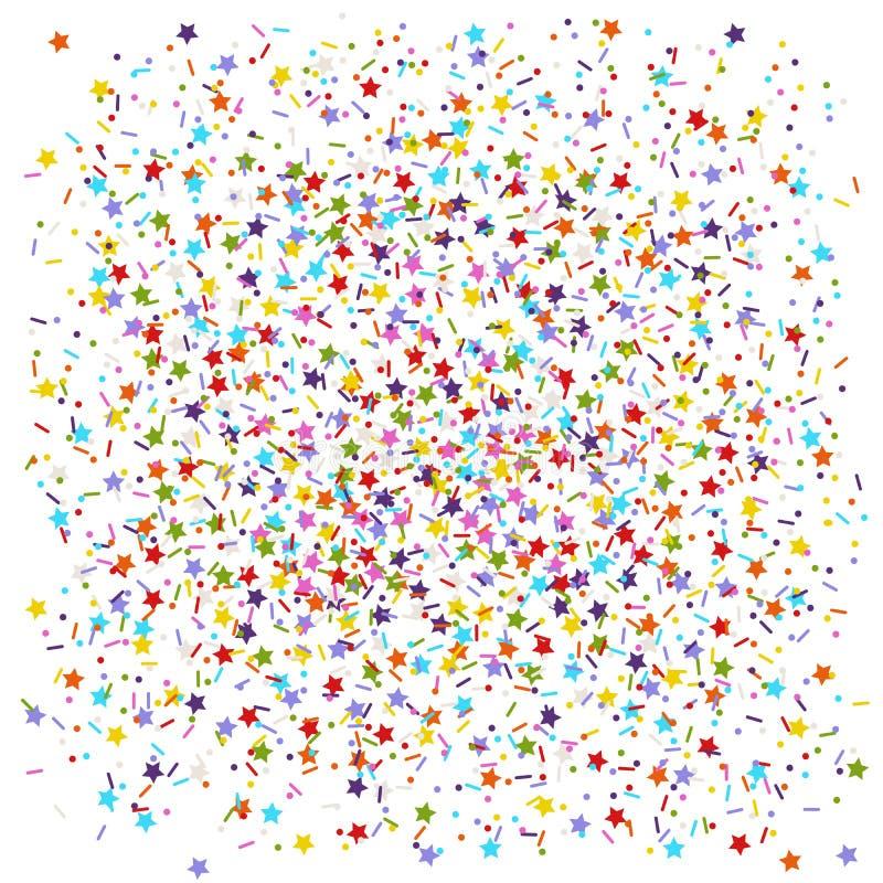 Spruzza le stelle, i punti e le linee immagini stock