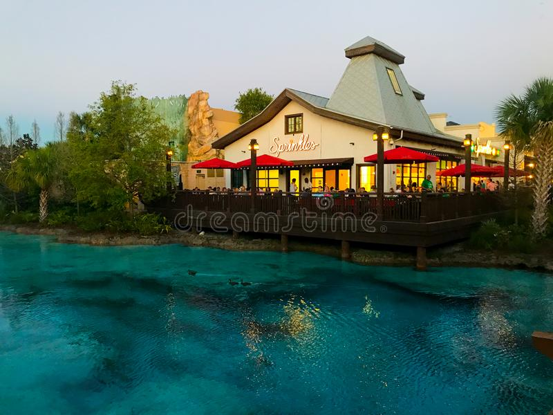 Spruzza, primavere di Disney, Orlando, Florida fotografia stock libera da diritti