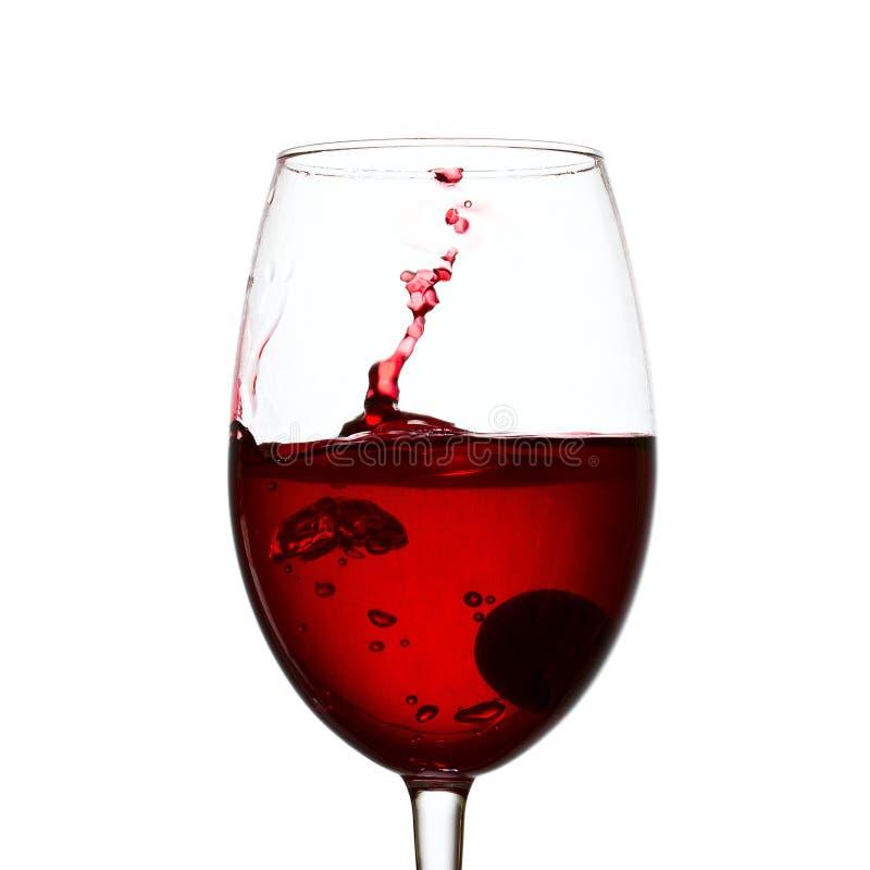 Spruzzata affascinante del vino rosso fotografia stock libera da diritti