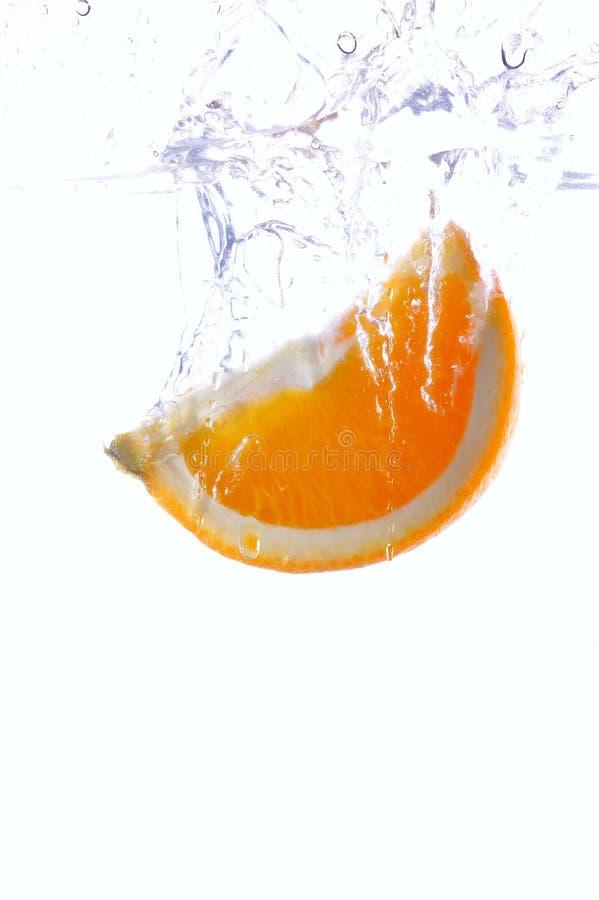 Spruzzata arancione fotografia stock libera da diritti