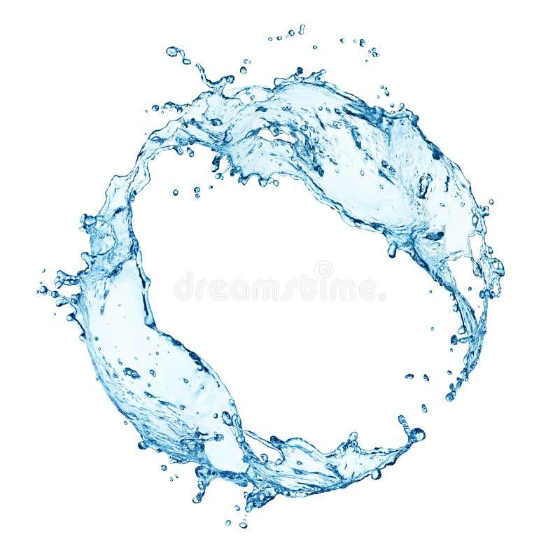 Spruzzata circolare dell'acqua immagini stock