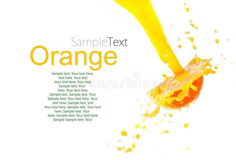 Spruzzata del succo di arancia immagine stock libera da diritti