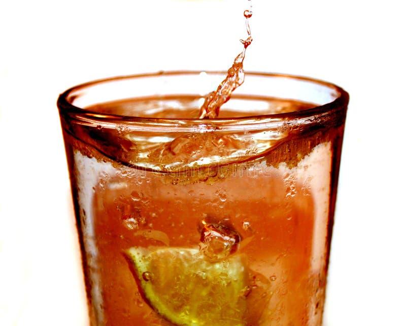 Spruzzata del tè di ghiaccio immagine stock