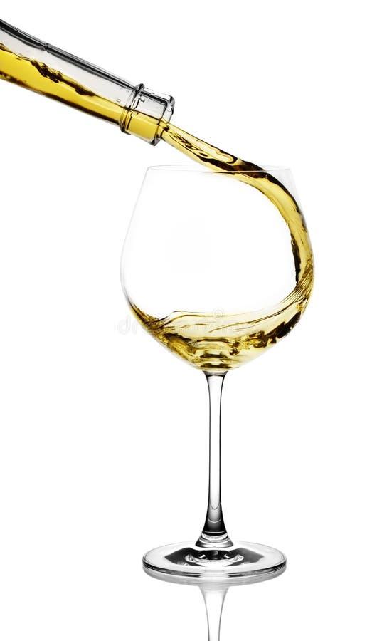 Spruzzata del vino bianco immagine stock libera da diritti