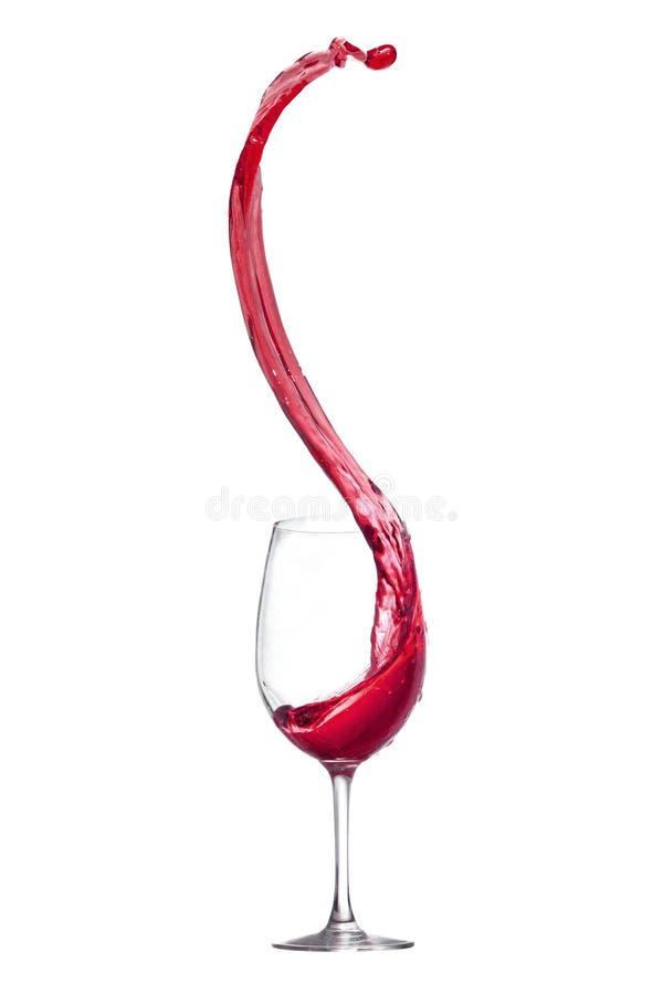 Spruzzata del vino rosso fotografie stock