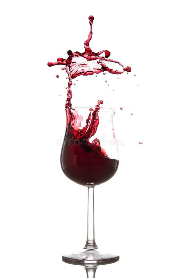Spruzzata del vino rosso fotografia stock