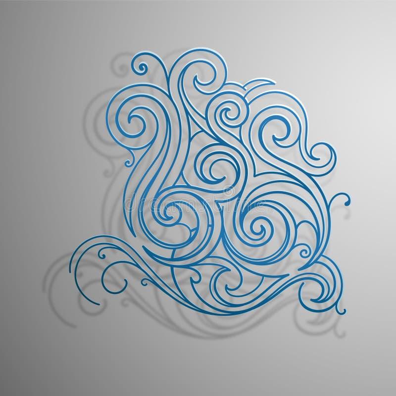 Download Spruzzata dell'acqua illustrazione vettoriale. Illustrazione di elemento - 30830205