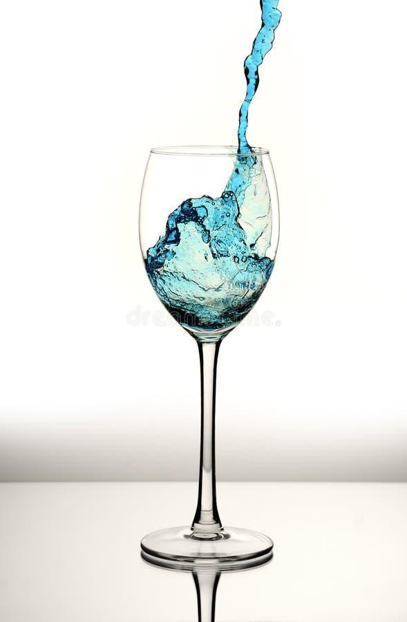 Spruzzata dell'acqua blu fotografia stock