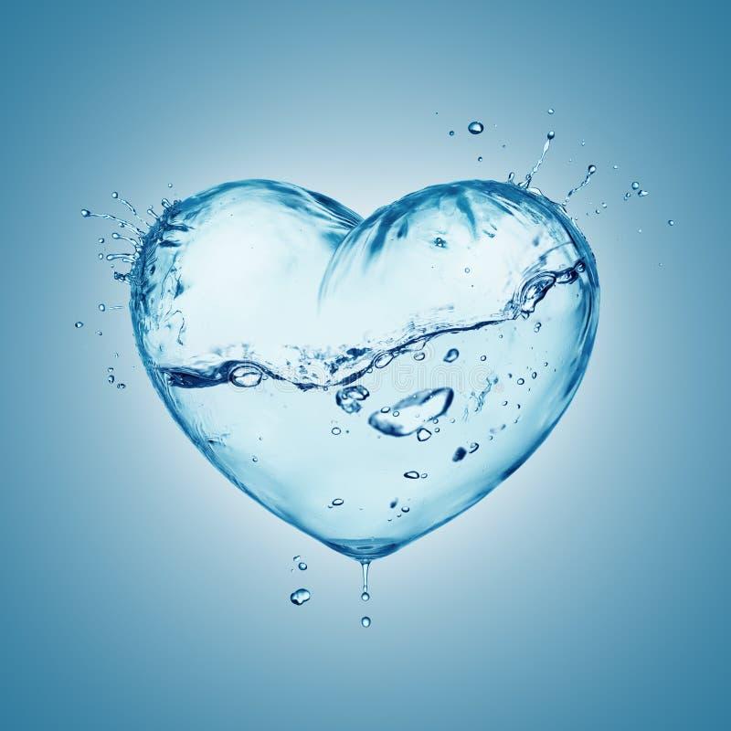 Spruzzata dell'acqua del cuore immagini stock