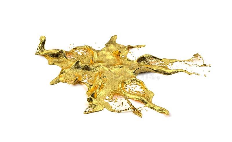 Spruzzata dell'oro di Liguid fotografia stock libera da diritti