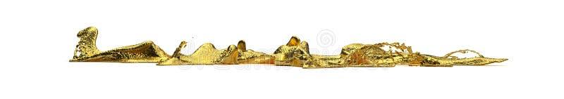 Spruzzata dell'oro di Liguid fotografia stock