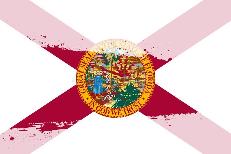 Spruzzata della bandiera di Florida royalty illustrazione gratis