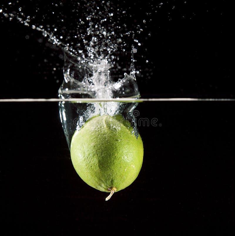 Spruzzata della frutta della calce fotografie stock