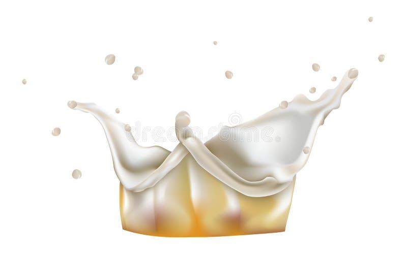 Spruzzata della schiuma royalty illustrazione gratis