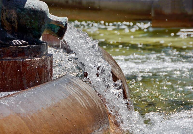 Spruzzata di acqua nella fontana immagini stock libere da diritti