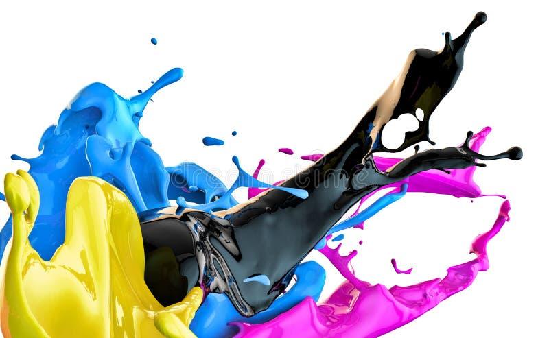 Spruzzata di colore illustrazione di stock