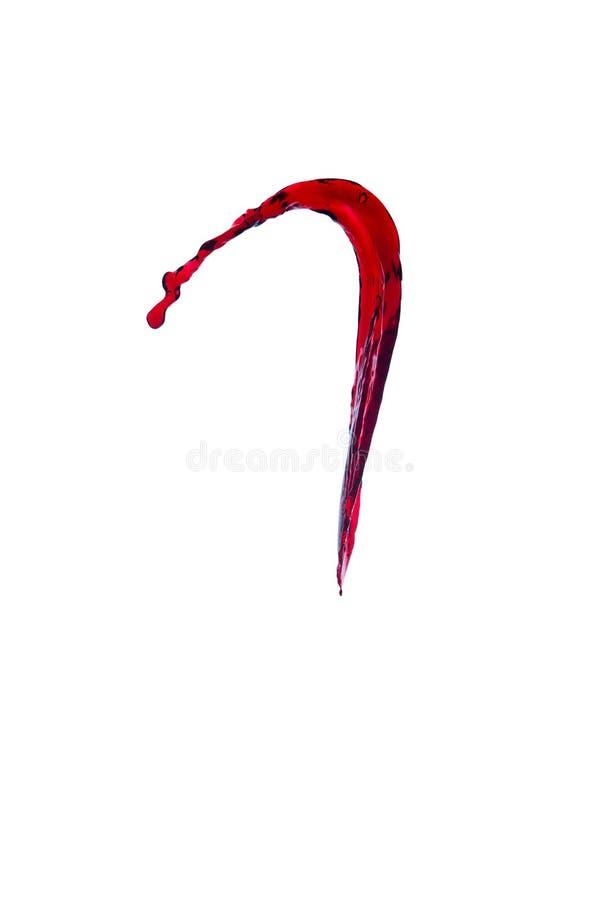 Spruzzata di vino fotografia stock