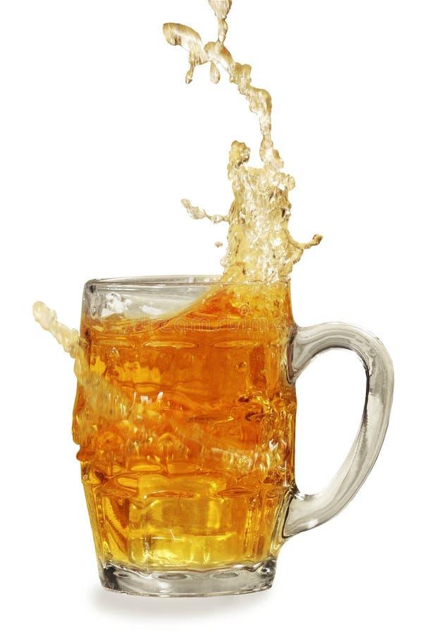Spruzzata fresca della birra fotografie stock libere da diritti