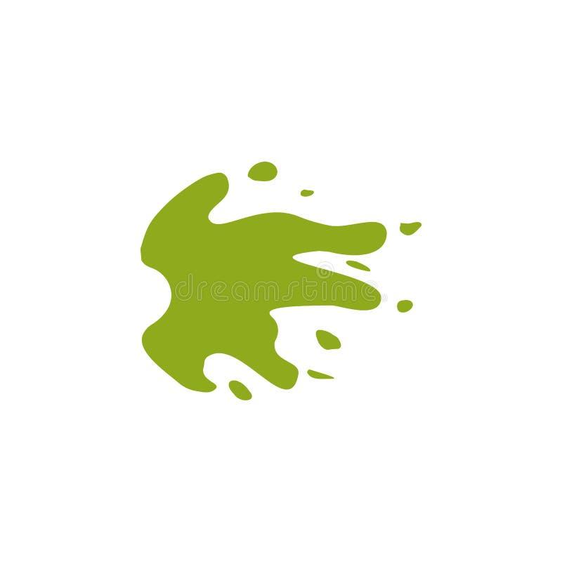 Spruzzata, icona multicolore del kiwi illustrazione di stock