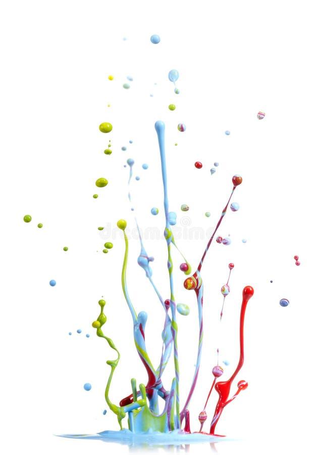 Spruzzata Mixed della vernice di colori fotografia stock