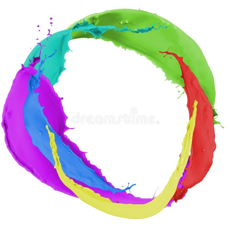 Spruzzata multicolore della pittura illustrazione vettoriale