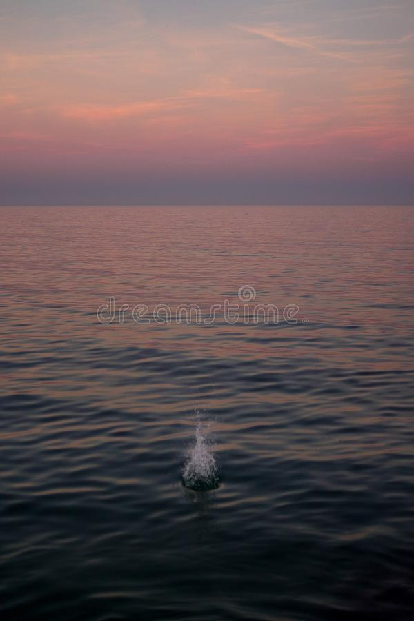 Spruzzata nel mar Mediterraneo immagini stock