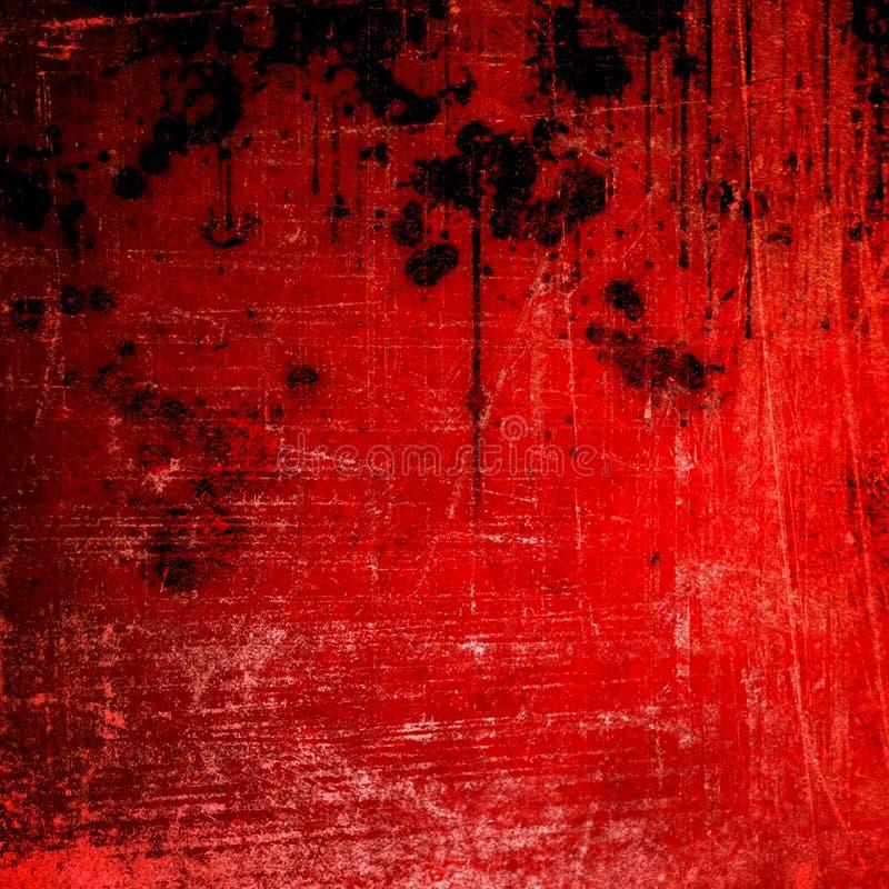 Spruzzata sulla priorità bassa rossa della vernice illustrazione vettoriale