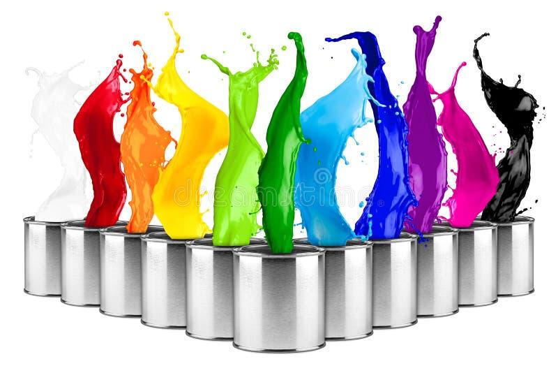 Spruzzata variopinta della dose di colore dell'arcobaleno immagine stock libera da diritti