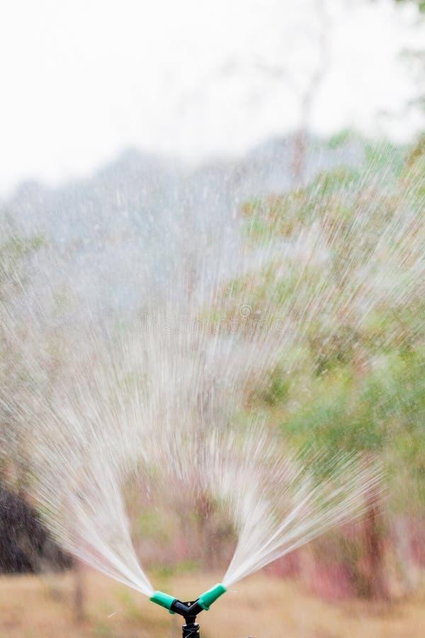 Spruzzatore di innaffiatura automatica - effetto di colore fotografie stock libere da diritti