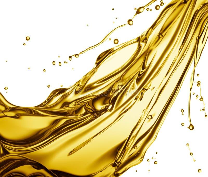 Spruzzatura dell'olio da cucina fotografia stock
