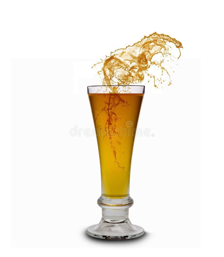 Spruzzatura della birra fotografie stock libere da diritti